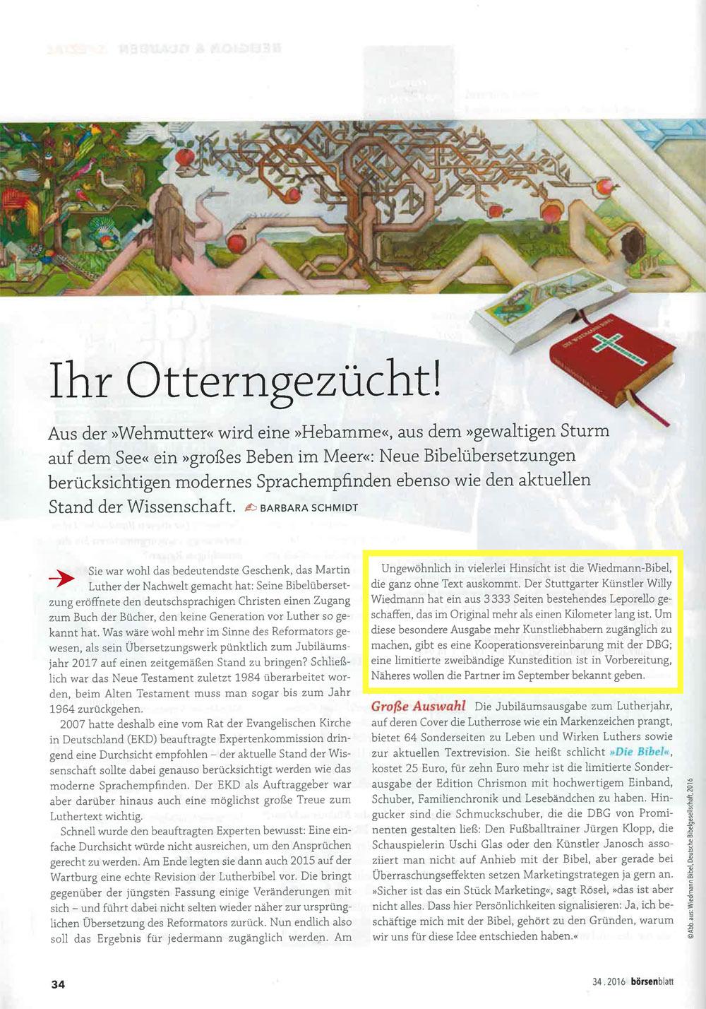 Quelle: Börsenblatt Aug. 2016 Religion & Glauben