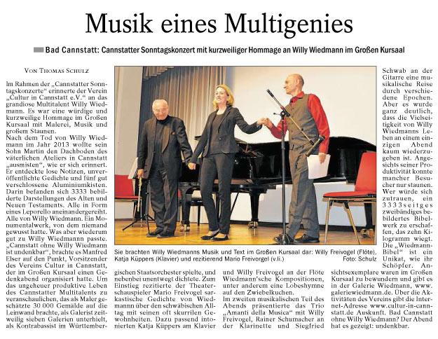 Quelle: Cannstatter/Untertürkheimer Zeitung.11.04.2017