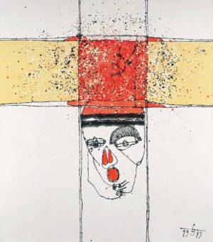 07-Figura-kreslona-No.1-1999-olej-akryl-na-płotnie-160x140-cm
