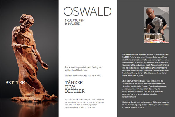 TÄNZER – DIVA – BETTLER | OSWALD. Skulpturen und Malerei